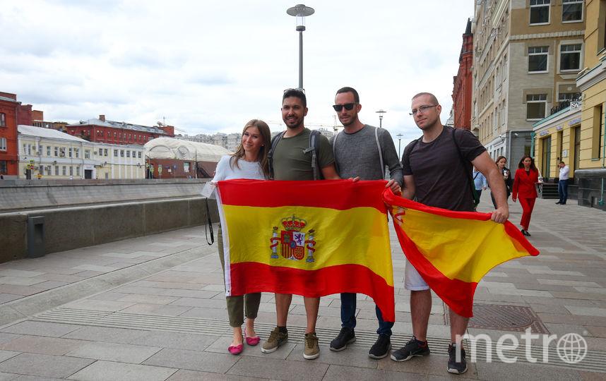 Испанцы прогулялись по Москве перед отъездом из России. Фото Василий Кузьмичёнок