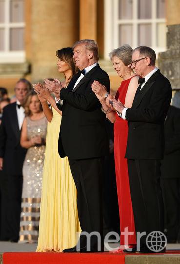 Дональд и Мелания Трамп в гостях у Терезы Мэй и ее супруга Филипа. Фото Getty