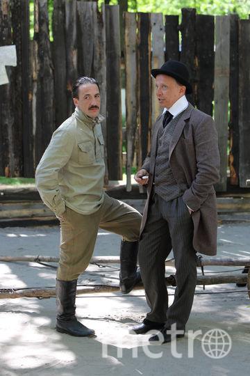 Артур Смольянинов и Иван Охлобыстин на съёмках фильма. Фото Предоставлено пресс-службой НТВ