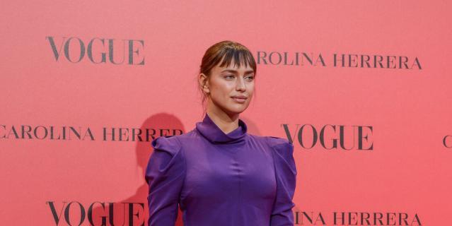 Ирина Шейк на вечеринке Vogue в Мадриде.