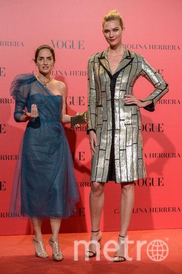 Карли Клосс на вечеринке Vogue в Мадриде. Фото Getty