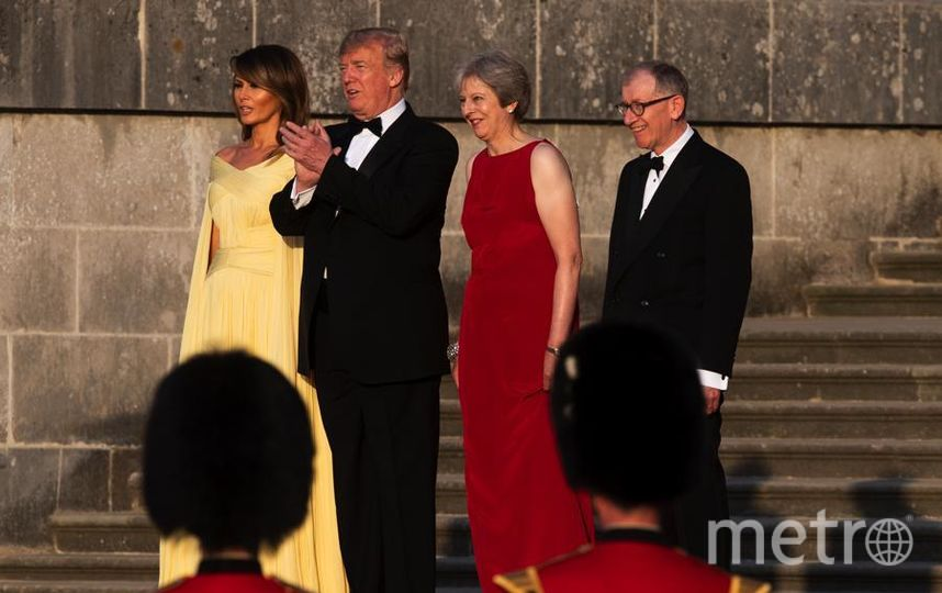 Перед ужином с премьер-министром Британии и ее супругом. Фото Getty