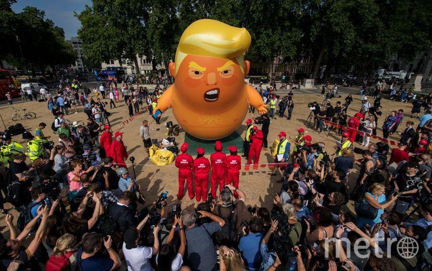 Протесты против визита Трампа в Лондоне. Фото Getty