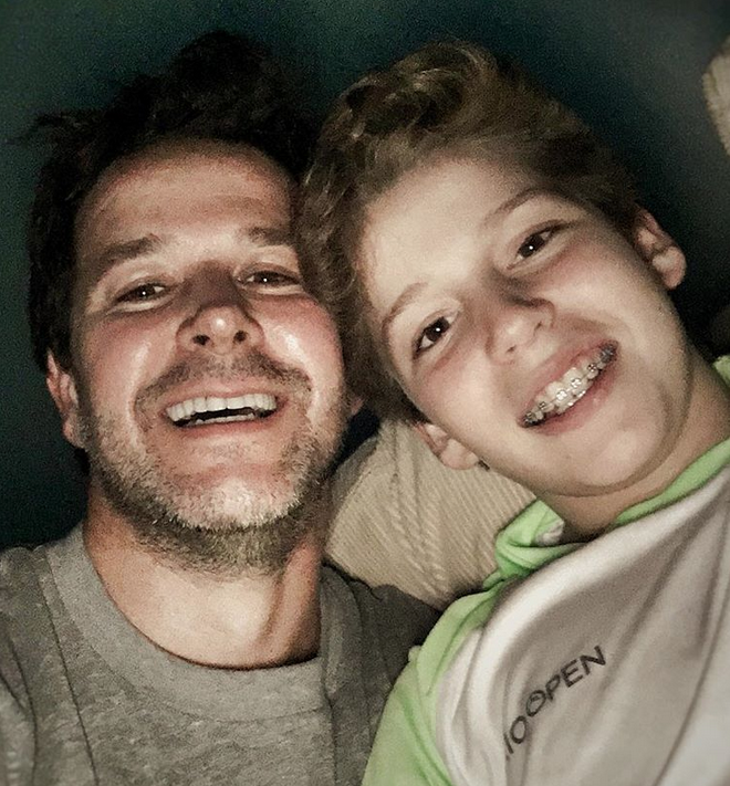 Мурилу Бенисиу и сын Пьетро. Фото Скриншот: @murilobeniciooficial