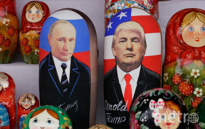Матрёшки с Путиным и Трампом. Фото AFP