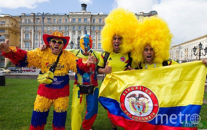 Болельщики в центре Москвы. Фото Василий Кузьмичёнок