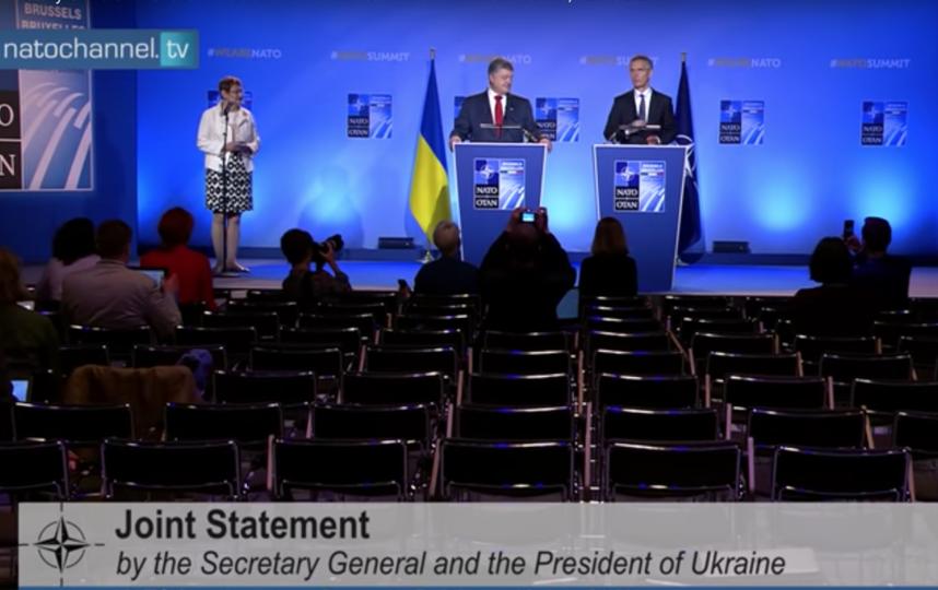 Выступление Петра Порошенко в Брюсселе. Фото Скриншот Youtube