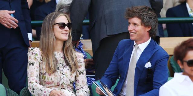 Эдди Редмэйн с супругой Ханной.