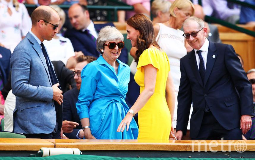 Принц Уильям, Кейт Миддлтон и Тереза Мэй и её супруг Филипп. Фото Getty