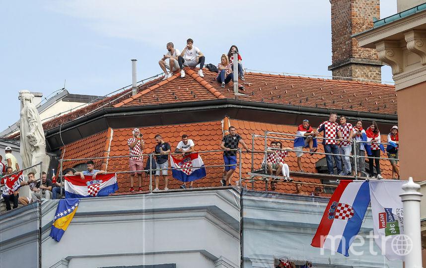 В столице Хорватии болеют за сборную. Фото Getty