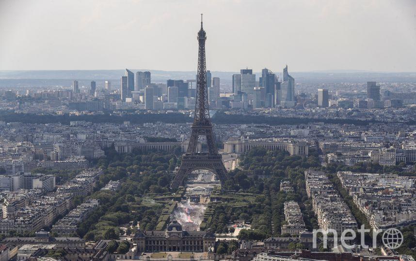 Французские и хорватские фанаты. Фото AFP