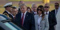 Дональд и Мелания Трамп прилетели в Хельсинки: фото