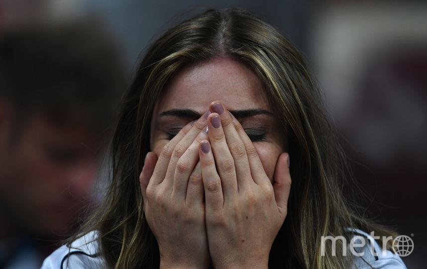 Болельщица матча Франция – Хорватия. Фото AFP