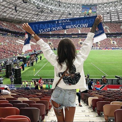 Болельщица матча Франция – Хорватия. Фото Instagram/postoyanka_official