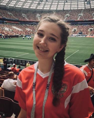Болельщица матча Франция – Хорватия. Фото Instagram/darya_kulikovskaia