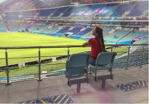 Болельщица матча Франция – Хорватия. Фото Instagram/okskoles