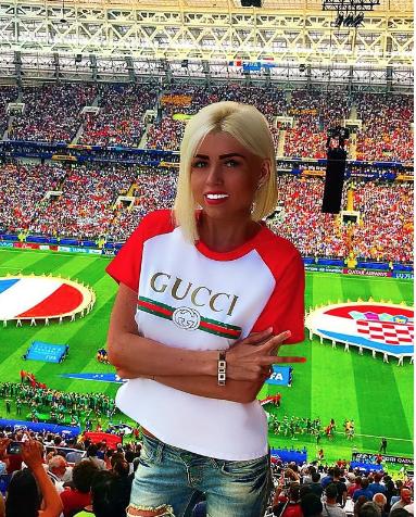 Болельщица матча Франция – Хорватия. Фото Instagram/tyurminova_mrs