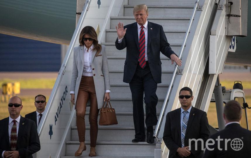 Дональд и Мелания Трамп прилетели в Хельсинки 15 июля. Фото Getty