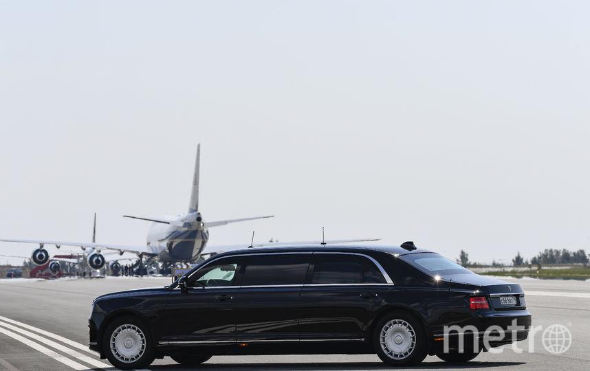 """Путин поехал на новом отечественном лимузине """"Аурус"""" проекта """"Кортеж"""". Фото AFP"""
