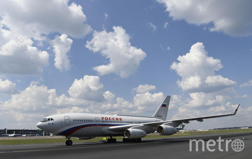 Самолёт с российским президентом в Хельсинки. Фото AFP