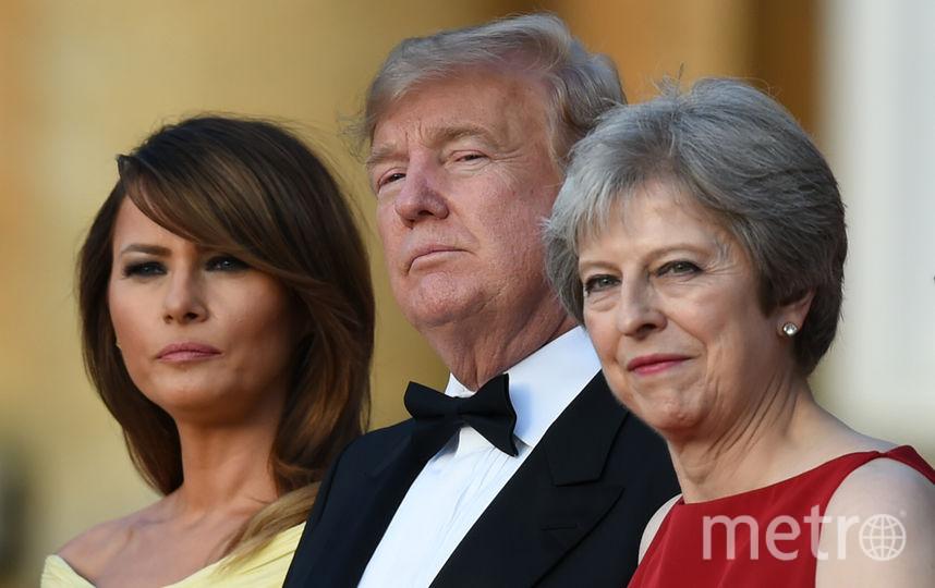 Дональд и Мелания Трамп и Тереза Мэй. Фото AFP