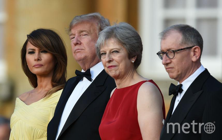 Дональд и Мелания Трамп, Тереза и Филип Мэй. Фото AFP
