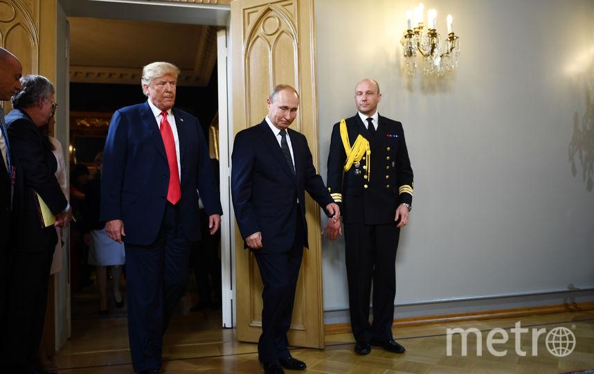 Путин и Трамп встретились в Хельсинки. Фото AFP