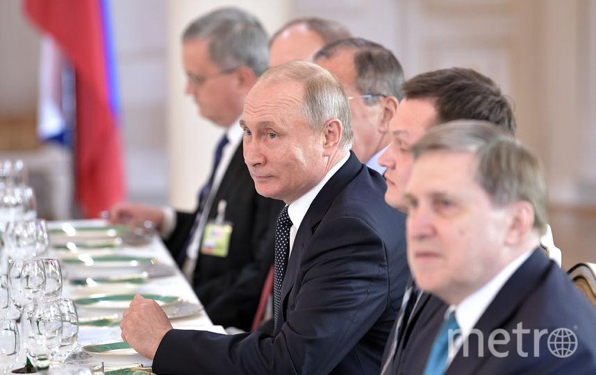Встреча Путина и Трампа, рабочий ланч. Фото AFP