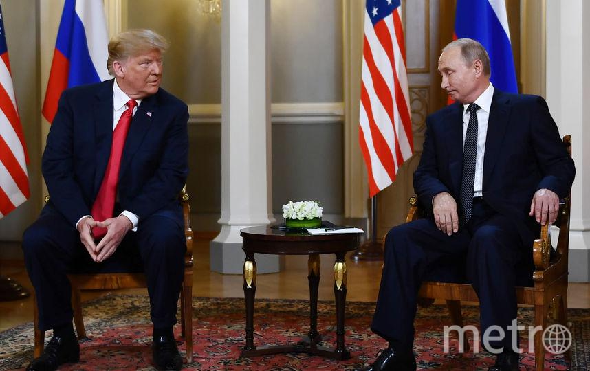 Встреча Путина и Трампа в Хельсинки. Фото AFP