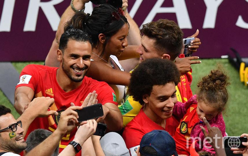 Игроки сборной Бельгии с семьями. Фото Getty