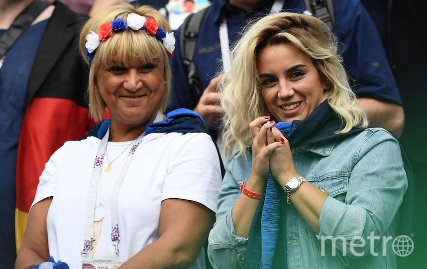 Жена (справа) и мама Антуана Гризманна. Фото Getty