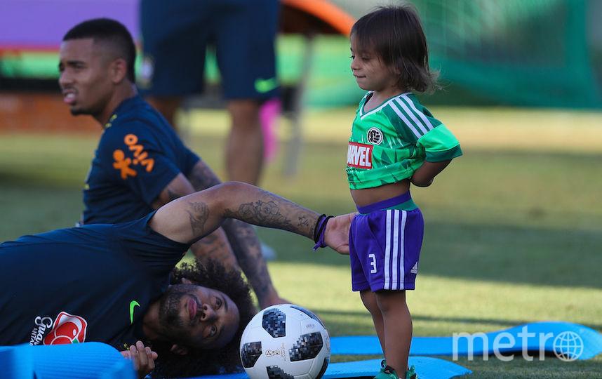 Марсело с сыном. Фото Getty