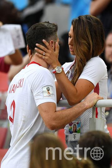 Роберт Левандовски с женой. Фото Getty