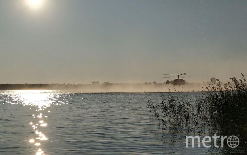 Пожар врайоне шалаша Ленина гасят вертолетами