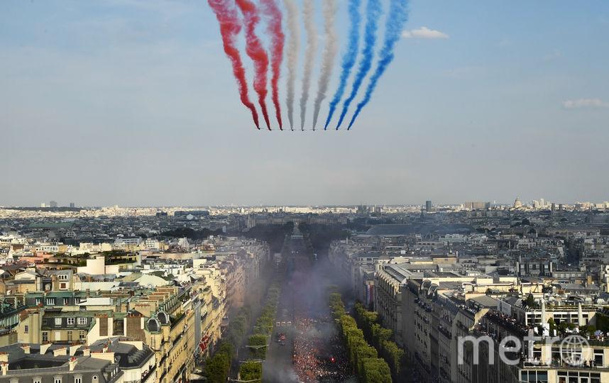 Пролёт авиации в честь чемпионов мира. Фото AFP