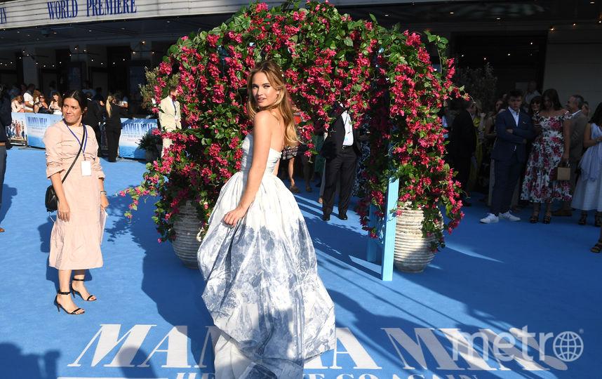 """Лондонская премьера фильма """"Mamma Mia! 2"""". Лили Джеймс. Фото Getty"""