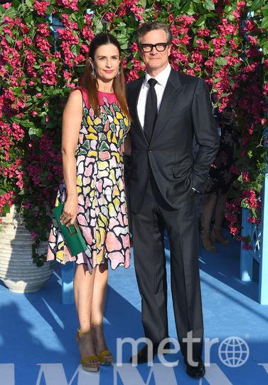 """Лондонская премьера фильма """"Mamma Mia! 2"""". Колин Ферт с женой. Фото Getty"""
