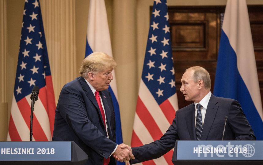 Встреча Владимира Путина и Дональда Трампа в Хельсинки. Фото Getty