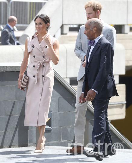 Меган Маркл и принц Гарри прибыли на открытие выставки в Лондоне. Фото Getty