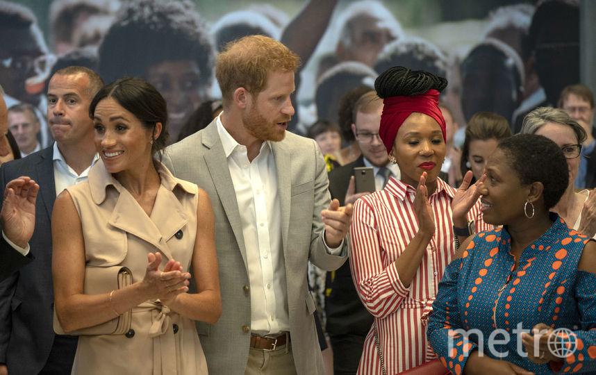 Меган Маркл и принц Гарри прибыли осматривают выставку. Фото Getty
