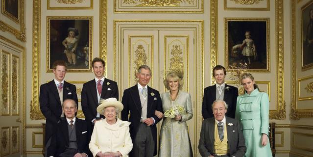 Свадьба принца Чарльза и Камиллы в 2005 году.