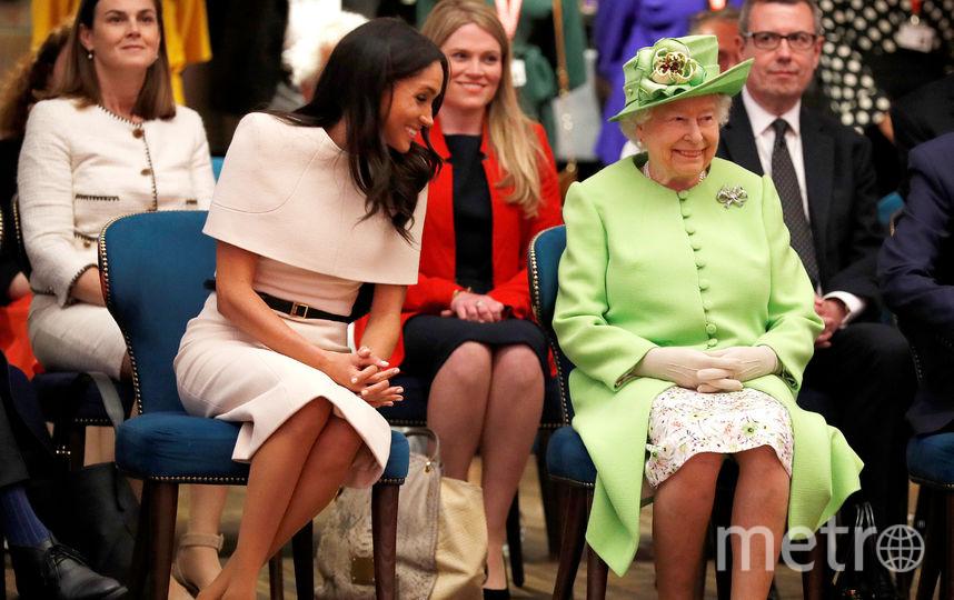 Меган Маркл и королева. Фото Getty