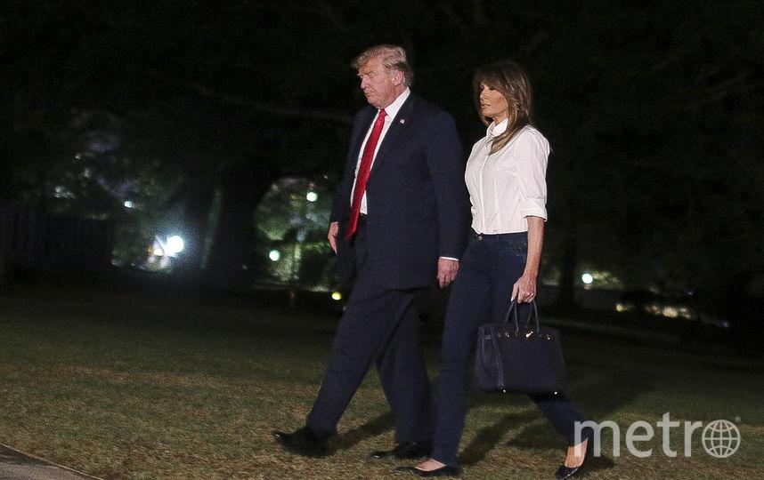 Дональд и Мелания Трамп по возвращении в США после поездки в Хельсинки. Фото Getty