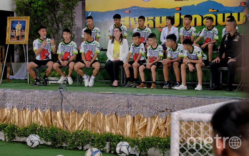Выжившие в пещере мальчики и их тренер. Фото Getty
