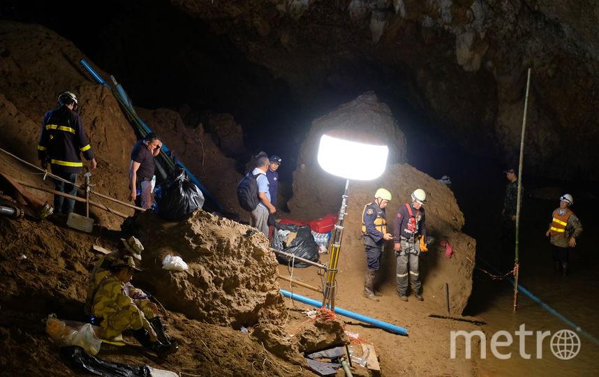 Операция по спасению мальчиков из пещеры. Фото Getty
