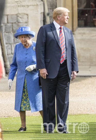 Елизавета II и Дональд Трамп. Фото Getty