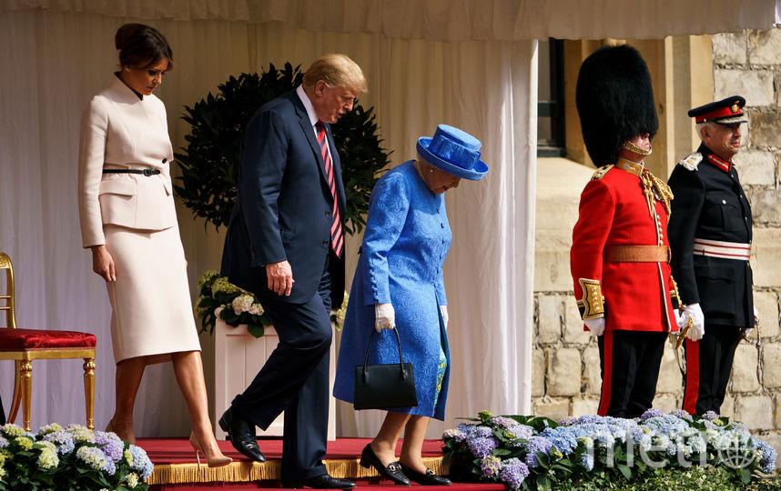 Елизавета II, Дональд и Мелания Трамп. Фото Getty