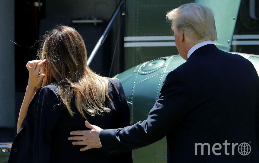 Дональд и Мелания Трамп вернулись в США. Фото Getty
