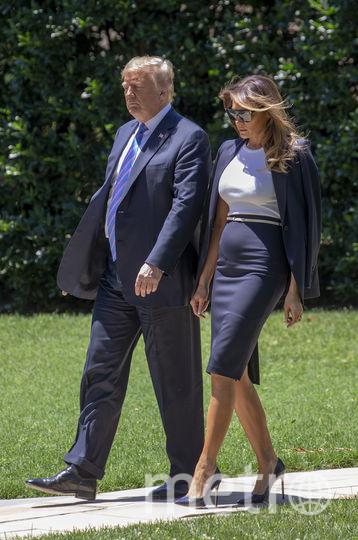 Мелания Трамп с Дональдом Трампом. Фото AFP