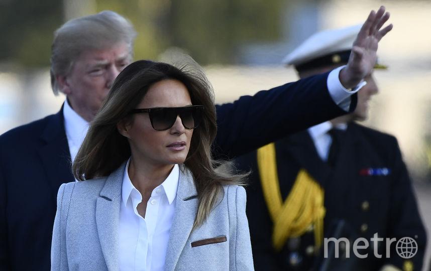 Мелания Трамп с супругом - Дональдом Трампом. Фото AFP